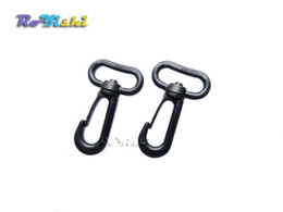 wholesale plastic snaps Canada - 50pcs pack Plastic Snap Hooks Rotary Swivel Backpack Buckles Webbing 25mm
