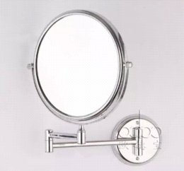 free shipping 8 inches antifog wall mounted double side fogless mirror bathroom shaving oval cosmetic makeup shower mirror 5x