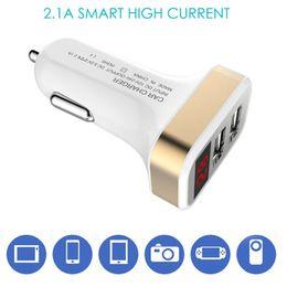 Auto Ladegerät 5 V 2.1A Schnellladegerät Dual USB Port Led-anzeige Zigarettenanzünder Telefon Schnellladeadapter Für Handy Pad Q0271