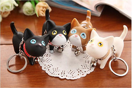 $enCountryForm.capitalKeyWord Canada - CUTE Meow Cat Doll Key Chain PU Lovers Styles Souvenirs Wedding Keychains Fashion Gift Key Ring