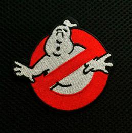 3,9 Zoll Großhandel Ghostbusters keine Geister Logo Bildschirm genaue gestickte Eisen auf Patches Applique Abzeichen annähen Patch GP-048 im Angebot