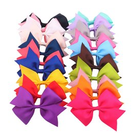 v shaped hair 2019 - Solid Color Baby Hair Accessories Grosgrain Ribbon V Shaped Hair Bowknot with Clip for Children Girls 20 Colors for Choi