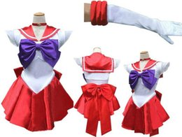 Habille Un Collier De Jupe Plissé Pas Cher-Fress shipping Japan Anime sexy Cosplay Dress With Bowknot Sexy Sailor Moon Costume Lapel Collar Hot Girl Cosplay Dress Jupe plissée