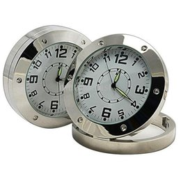 Dvr clock online shopping - HD mini Clock Camera DVR520 Motion Detection round Clock Pinhole camera mini DVR Clock Security Cam Stainless Steel
