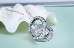 $enCountryForm.capitalKeyWord NZ - Big Promotional price 25mm DIY Glass locket pendants zinc alloy crystal diamond living magnetic floating lockets for Bracelets or Necklaces