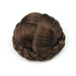 Hair Bun Braided NZ - hanzi_beauty Small Size Knitted Hair Chignon Donut Roller Hairpieces Synthetic Hair Bun