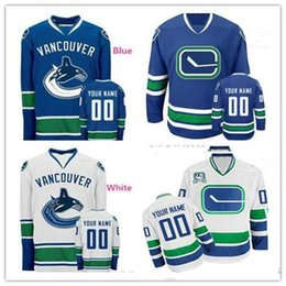 aef0b8ec2 vancouver canuck jersey 2019 - Stitched Custom Vancouver Canucks mens  womens youth Home royal Blue White