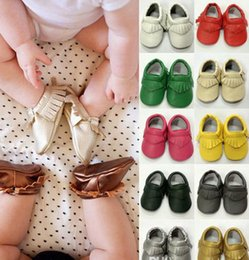 Babies Leather Booties Canada - 45 Style For Choose Baby Soft PU Leather Tassel Moccasins Girls Bow Moccs Baby Booties Toddler Solid Colour Tassel Shoes Moccasin Free Fedex