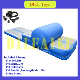 Wholesale Fast Delivery Portable Inflatable Air Track Set Gym Mat Home Training Tumble Air Track Set With Air Pump For Sale