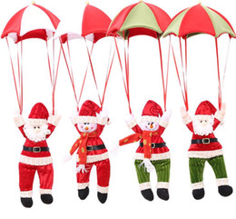 Wholesale Christmas Decoration for Home Snowman Ornament Parachute Christmas Doll Pendant New Year Decor Christmas Toys G1073