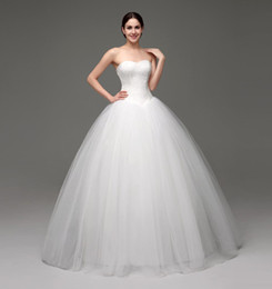Modern designs photo online shopping - Simple Design Wedding Dresses Cheap Sweetheart Corset Lace Tulle Ball Gown Bridal Gowns White Ivory Designer Wedding Gown Under