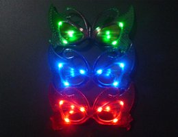 festival light toys 2019 - Free EMS LED Light butterfly Glasses 2015new Flashing butterfly LED Flash Glasses Party Supplies Festival Decoration Chr