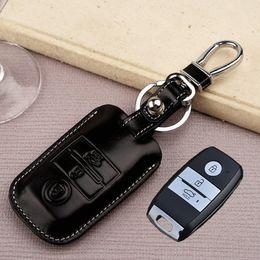 $enCountryForm.capitalKeyWord Canada - Leather Car Key Fob Cover for KIA K3 K4 2016 K5 Kx5 Sportage-r 2015 Sorento Key Holder Wallets Case Key Chain Auto Accessories