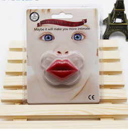 Dummy Baby Lip NZ - Fnnny Baby Pacifier Cute Teeth Sexy Red Lips Pig Baby Boy Girl Infant Pacifier Orthodontic Dummy Nipples Pacifiers K6145