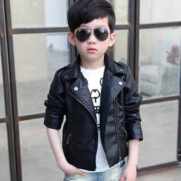 $enCountryForm.capitalKeyWord Australia - 2015 New Children'S For Boys And Girls Leather Jacket Motorcycle PU Leather Jacket Lapel Oblique Zipper Outerwear Coats