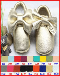 $enCountryForm.capitalKeyWord Canada - 10Pairs free shipping 2015 New Tassels & Bow Baby Moccasins Soft Moccs Baby Shoes Kids 100% Genuine Cow Leather Newborn Baby Prewalker 0-2T