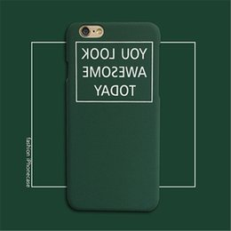 $enCountryForm.capitalKeyWord Canada - Original rear cover type simple mirror English grinding plastic hard shell for iPhone 7 cell phone case