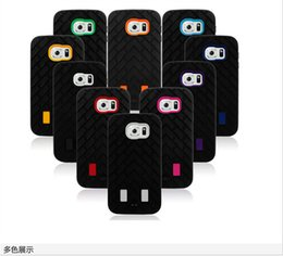 Chinese  Rugged Tire pattern Dual Layer Case Silicone TPU+Hard Plastic 3in1 Heavy Duty Armor Hybrid Cover For iphone 6 plus 5S 4S Samsung S6 manufacturers