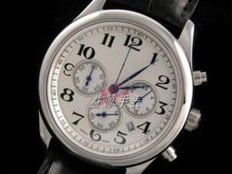 Box Brand Glasses NZ - Classic Swiss Branded Mens Quartz Chronograph Watches Luxury Genuine Leather Watch Date Bracelet Men Stainless Wristwatch Low Price Gift Box