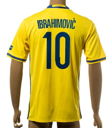 cd4ebb9c8 Thai Quality Customized 2015-16 Sweden European Cup 10 Ibrahimovic Home  Jerseys Shirts