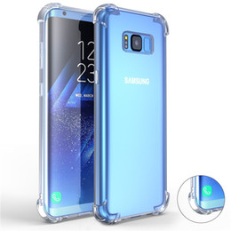 Clear Gel Iphone Cases NZ - Airbag Shockproof Case for Samsung Note8 S8 S8Plus Soft Silicone Gel Case Transparent Back Cover for iPhone X 8 7 6 6S Plus