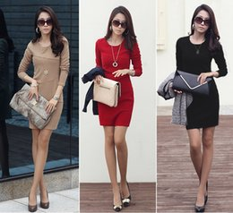$enCountryForm.capitalKeyWord Canada - The new during the spring and autumn winter 2016 big yards of women cultivate one's morality OL package hip render skirt long-sleeved dress