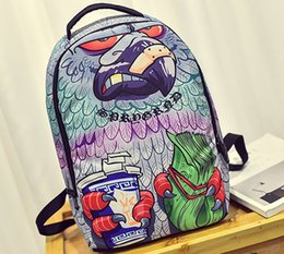 Backpack pictures online shopping - Eagle claw backpack Sprayground packsack Pigeon wing picture daypack Street pack bag Canvas rucksack Spray ground day pack