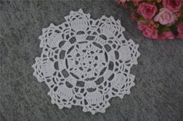 $enCountryForm.capitalKeyWord UK - DIY Design Wedding Handmade Crochet Coasters Doily Placemats Crocheted Doilies Size 5 inches 30 PCS  LOT Custom Color _DSC0048