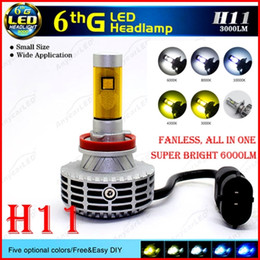 bright led headlight bulbs Canada - 2016 NEW 1 Set H11 CREE 80W 6000LM LED Headlight XHP50 6th Fanless All in One Conversion Kit Single Beam LED Bulb Super Bright Driving Fog