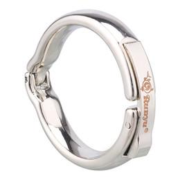 Metal pene anillo prepucio anillo de bloqueo divertido imán corrección de fisioterapia piel de oveja adultos suministros