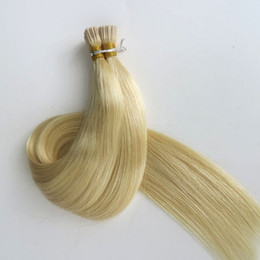 Platinum Product online shopping - Pre bonded brazilian I tip human hair extensions g Strands inch Platinum Blonde Indian hair products