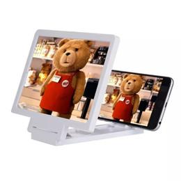 Atacado-NOVO 3D Mobile Phones Zoom Ampliar Vidro portátil Dobrável Celular Tela HD Lupa Para smartphone iPhone em Promoção