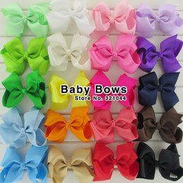 Ribbons For Hair Canada - 4.5'' big ribbon hairbows Girls hair accessories hair bow with clip for teens kids infant baby hairpins 50pcs lot HJ011+4.5cm