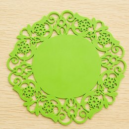 2017 Modern Kitchen Plates Wholesale Lace Flower Table Mats Drink Coasters Coffee Cup Plate Bowl Pad