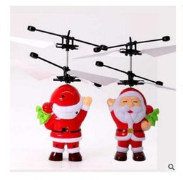 $enCountryForm.capitalKeyWord NZ - Toy Children Christmas Gifts Santa Claus Helicopter Model Infrared Induction Aircraft Electric Auto Suspension DHL Free Shipping