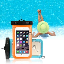 Cell Phone Pouch Neck Australia - For Iphone X 8 7 6 Plus 5 Waterproof Case Samsung Galaxy S6 S5 Mobile Phones Waterproof Dry Cell Neck Pouch Lanyard for All 5.9 Inch Phones