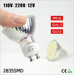 Bulb Warmer Heat Lamps Canada - BEST Selling 1Pcs Engergy Class A++ 7W 12V 220V 110V GU10 MR16 GU5.3 LED lamp Heat Resistant Glass Body 2835SMD 60 LED Spotlight Bulb light