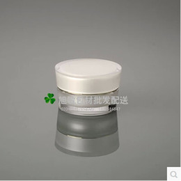 Discount acrylic cosmetic jar white - FC Capacity 15g pear white acrylic cone-shape cream jar,Cosmetic Jar,cosmetic container,Cosmetic Packaging