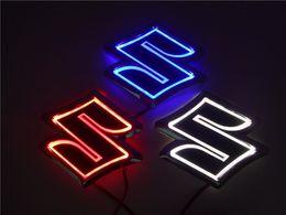Suzuki logoS online shopping - New D Auto standard Badge Lamp Special modified car logo LED light auto emblem led lamp for SUZUKI Alto Jimny
