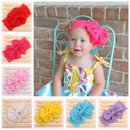 a13a3d7582b baby lace flower headbands for girls big bow hair bows kids christmas lace headwear  children hair accessories girls cute bowknot hairbands
