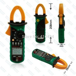 Digital Clamp Meter Dc Current NZ - MS2108S True RMS Digital AC DC Current Clamp Meter Multimeter Capacitance Frequency Inrush Current Tester order<$18no track
