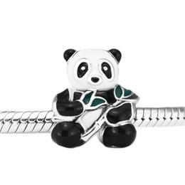 3ebcb20bc3b2 Pandulaso Sweet Panda Charm Mix-Enamel Beads para la fabricación de joyas  Fit Pandora Pulseras Necklace Mujer DIY fabricación de joyas