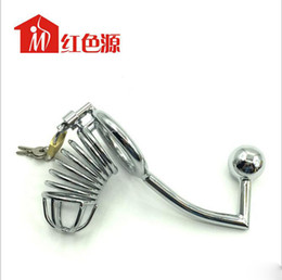 Male locked penis chastity online shopping - Pure Love Male metal Chastity Device Cock Cages Men s Virginity Lock Penis Rings Adult Sex Toys adult sex products