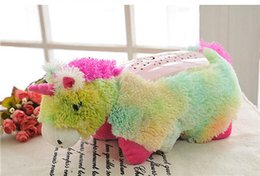Usb Animal Lamps Canada - The Unicorn Animal Pillow Baby Sleep Lamp Fluffy Romantic Starry Sky Light Plush Toys Dolls Direct Selling Cute And Lovely Heat Selling