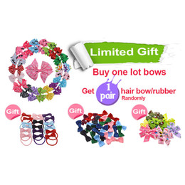 $enCountryForm.capitalKeyWord Australia - Gift 40pcs Little Girl 3 Inch Grosgrain Ribbon Hairbows With Alligator Clip Kids Small Hair Clip Pin Girls Hair Accessories Free