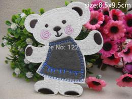 $enCountryForm.capitalKeyWord NZ - 2015 8.5cm*9.5CM Small polar bear Badge embroidered Appliques DIY accessory garment bag hot paste patch