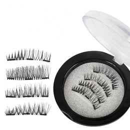 China Magnetic False Eyelashes 3D Mink Lashes Reusable three   dual Magnets Eyelashes Extension 3D Eyelash Full Strip Extensions Magnetic Eye Lash cheap magnets 3d suppliers