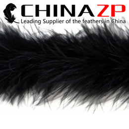 Feather Boa Decorations Canada - CHINAZP Crafts Factory 2yards lot Cheap Top Quality Dyed Black Party Decoration Turkey Marabou Feather Boas