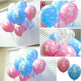 Wholesale Printing Balloon Balloons Party Decoration Balloon Number Foil Balloons Baby First Birthday Balloon Girl Boy Printed Number Party Decoration