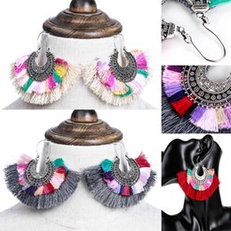 Discount exotic earrings - Fashion Gift Women Earrings 3 Styles multi-layer Big tassel earrings Retro exotic Statement dangle Earrings Bohemia styl